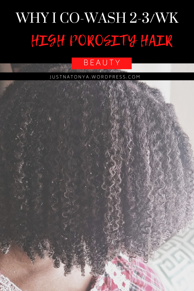 Why I Co-Washing My High Porosity Hair -JustNatonya